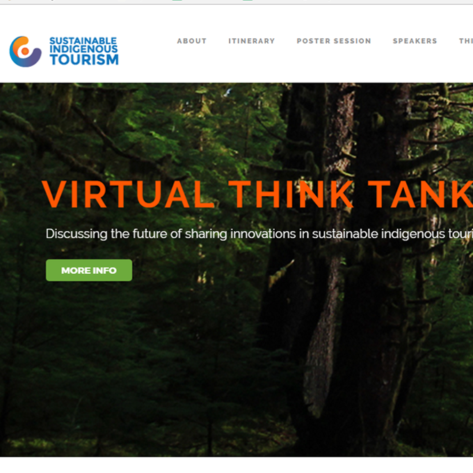 A screenshot of a website for Sustainable Indigenous Tourism